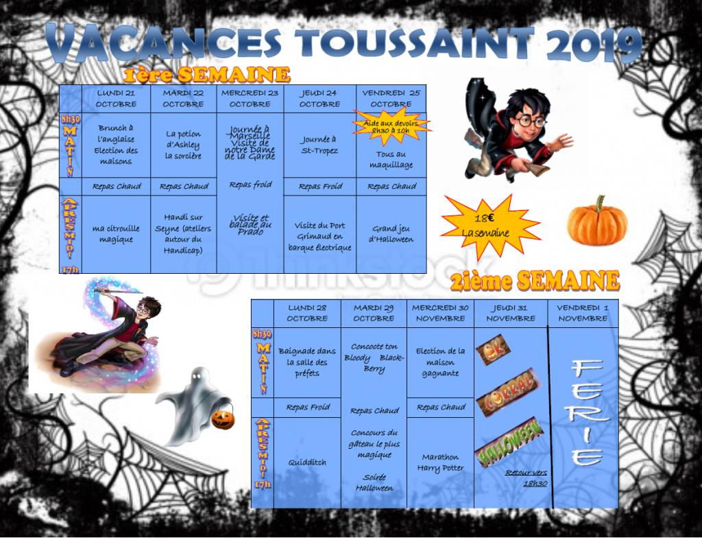 Plannings des vacances de la toussaint 2019 nouvel - Les vacances de la toussaint 2020 ...