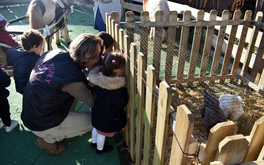 Une belle matinée hivernale avec nos amis les bêtes pour les tout-petits des crèches de Nouvel Horizon